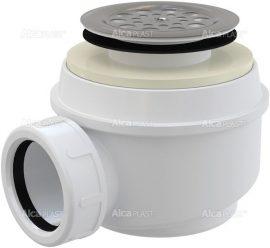 AlcaPLAST A46 Ø50 Zuhany szifon rozsdamentes ráccsal, túlfolyó nélküli zuhanytálcákhoz, 8594045933376