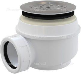 AlcaPLAST A46 Ø60 Zuhany szifon rozsdamentes ráccsal, túlfolyó nélküli zuhanytálcákhoz, 8594045930207