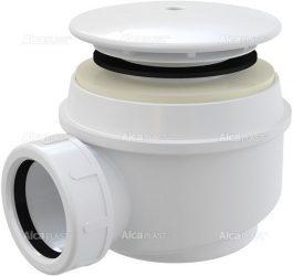 AlcaPLAST A47B Ø60 Zuhany szifon fehér sapkával, túlfolyó nélküli zuhanytálcákhoz, 8594045930214