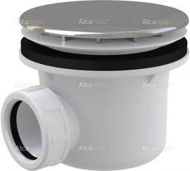 AlcaPLAST A49CR Króm zuhanytálca szifon, Ø90 mm-es leeresztő nyílással, túlfolyó nélküli zuhanytálcákhoz, 8594045930627