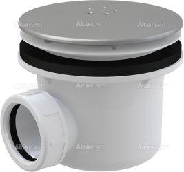 AlcaPLAST A49K MAT Zuhany szifon LUX fém, Ø90 mm-es leeresztő nyílással, túlfolyó nélküli zuhanytálcákhoz, 8594045930450