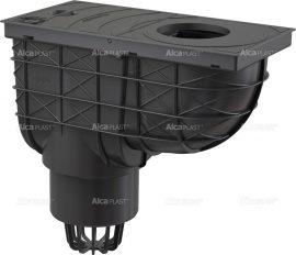 AlcaPLAST AGV1 Univerzális szennyvíz felfogó 300 × 155/110 közvetlen fekete, 8594045939415