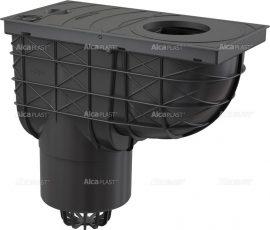 AlcaPLAST AGV2 Univerzális szennyvíz felfogó 300 × 155/125 közvetlen fekete, 8594045939422