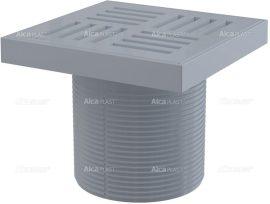 AlcaPLAST APV0200 A leeresztő csatlakozóaljzata, rács 150 × 150 szürke, 8595580507343