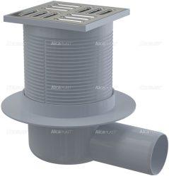 AlcaPLAST APV1 oldalsó kifolyású rozsdamentes padlólefolyó, 8595580520502