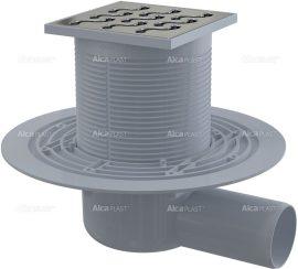 AlcaPLAST APV102 oldalsó kifolyású rozsdamentes padlólefolyó, 8594045930412