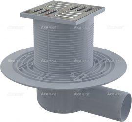 AlcaPLAST APV1311 alsó kifolyású rozsdamentes padlólefolyó, 8595580518455