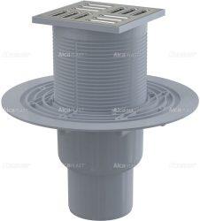 AlcaPLAST APV2321 alsó kifolyású rozsdamentes padlólefolyó, 8595580518493