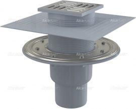 AlcaPLAST APV2324 alsó kifolyású rozsdamentes padlólefolyó, 8595580518509