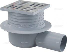 AlcaPLAST APV26 oldalsó kifolyású rozsdamentes padlólefolyó, 8595580503765