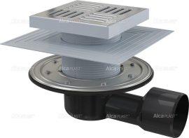 AlcaPLAST APV3444 oldalsó kifolyású rozsdamentes padlólefolyó, 8595580518523