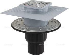 AlcaPLAST APV4344 alsó kifolyású rozsdamentes padlólefolyó, 8595580518530