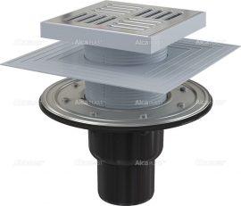 AlcaPLAST APV4444 alsó kifolyású rozsdamentes padlólefolyó, 8595580518547