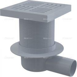 AlcaPLAST APV5211 műanyag oldalsó kifolyású padlólefolyó, 8595580507107