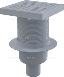 AlcaPLAST APV6211 műanyag alsó kifolyású padlólefolyó, 8595580507121