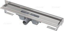 AlcaPLAST  APZ4-1150 Flexible Zuhanyfolyóka / falhoz állítható peremmel szigetelő gallérral, alaptest, perforált rácsokhoz