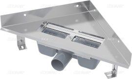 AlcaPLAST  ARZ1 Sarokba építhető zuhanyfolyóka / alaptest