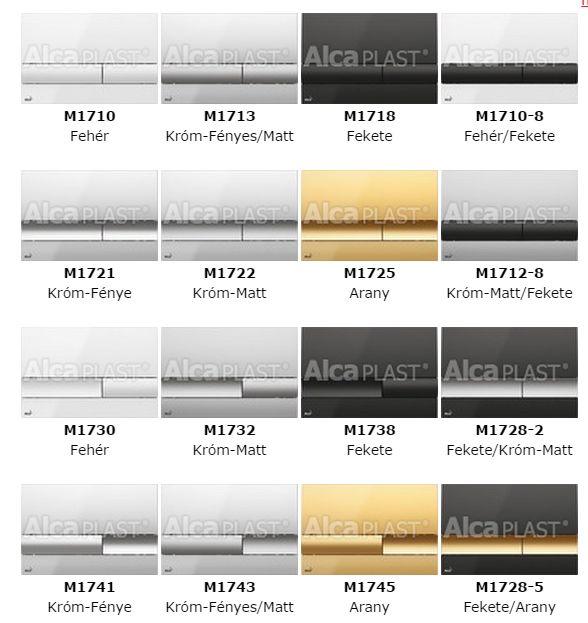 75f59ca2e2 AlcaPLAST M1722 kétöblítéses nyomólap falba építhető tartályhoz, falsík  alatti rendszerhez, Króm Matt, 8595580532017