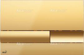 AlcaPLAST M1745 kétöblítéses nyomólap falba építhető tartályhoz, Arany, 8595580532130