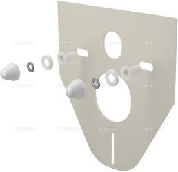 AlcaPLAST  M910 Hangszigetelő lemez függeszthető WC-hez és bidéhez tartozékokkal és fedéllel (fehér)