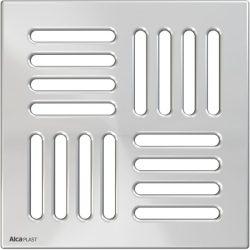AlcaPLAST MPV005 rozsdamentes padló összefolyó rács, 143 × 143 rozsdamentes, 8595580507633