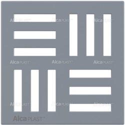 AlcaPLAST MPV006 műanyag padló összefolyó rács, 102 × 102 szürke, 8595580507657