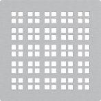 AlcaPLAST MPV015 8595580555511Rozsdamentes rács a rozsdamentes padlóösszefolyókhoz 102×102 mm