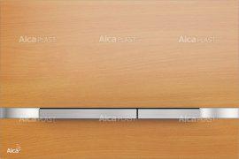 AlcaPLAST STRIPE BEECH Nyomólapok falba építhető rendszerekhez, fa dekor-matt fém, 8595580531133