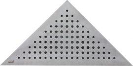 AlcaPLAST TRITON Rozsdamentes / Matt / Acél sarok rács / ARZ1 Sarokba építhető zuhanyfolyókához