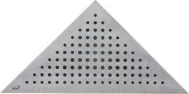 AlcaPLAST VIEW Rozsdamentes / Matt / Acél sarok rács / ARZ1 Sarokba építhető zuhanyfolyókához