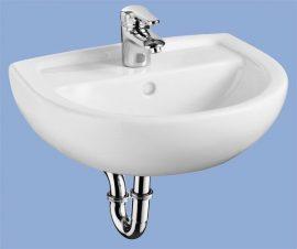 ALFÖLDI BÁZIS / 4145 45 01 / 45 x 36 cm-es fali mosdó, Fehér színben, kézmosó / 41454501