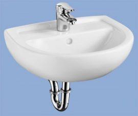 ALFÖLDI BÁZIS / 4145 50 01 / 50 x 40 cm-es fali mosdó, Fehér színben, 41455001