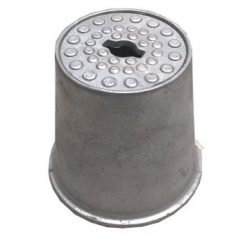 Alumínium fedeles / tetős / kerti csapszekrény / főcsapszekrény / csatornaszem / magas / csap tartó / csapelzáró / kerti csaphoz / főcsapszárhoz