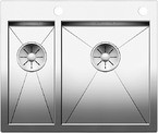 BLANCO ZEROX 340/180-IF/A SteelArt selyemfényű rozsdamentes acél mosogató / mosogatótálca, InFino, PushControl®, 521642
