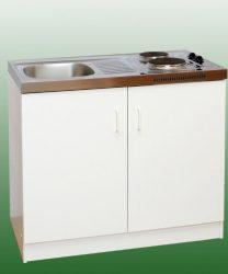 BLANCO minikonyha hűtő nélkül 100x60 cm, mosogató + főzőlap + szekrény / 89394K