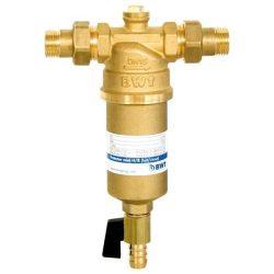 """BWT Protector mini lemosható melegvizes betétes szűrőkészülék réz poharas 1/2"""" (DN15) H/R, visszaöblíthető szűrő / vízszűrő / 810506"""