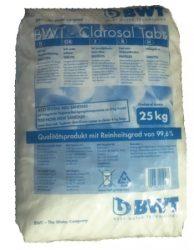 BWT Perla / volt Clarosal, vízlágyító tablettázott regeneráló só vízlágyítóhoz, 25 kg / zsák 94239