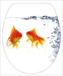 DUROPLAST HALAK / FISH antibakteriális WC ülőke, (színes, mintás, képes, fényképes) rozsdamentes zsanérral, 1 oldalon nyomtatott (tetőkülső)