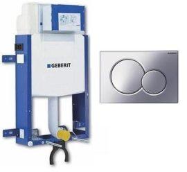 Geberit Kombifix WC szerelőelem fali WC részére Sigma 12 cm-es öblítőtartállyal, ECO, Sigma01 nyomólappal / krómozott / 110.319.21.5 / 110319215