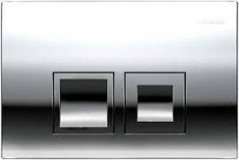 GEBERIT Delta 50 nyomólap 2 vízmennyiségű fényes króm / magasfényű krómozott UP100 BASIC beépíthető wc tartályhoz, 115.135.21.1 / 115135211