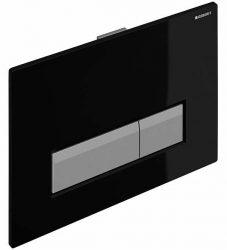 Geberit Sigma40 szagelszívó működtető egység / nyomólap ventilátorral, fekete, 115.600.KR.1 / 115600KR1, Duofresh beépíthető wc tartályhoz