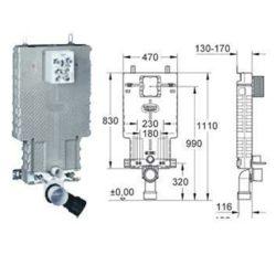 Grohe Uniset wc szerelőelem, beépíthető wc tartály, 38643001 / 38643 001