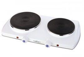 Heller DK 15/10 elektromos főzőlap, kétlapos / dupla, 1500/1000 W-os, Öntöttvas platni, 18,5/15,5 cm átmérő