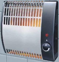 Heller FSK 505 fali elektromos mini konvektor, 500 W, falra szerelhető kompakt fűtő készülék / radiátor, inox szín