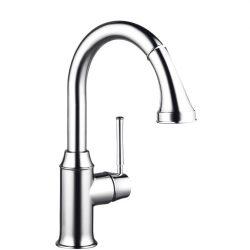 HansGrohe Talis Classic egykaros konyhai csaptelep kihúzhatós zuhanyfejjel / 14864000 / 14864 000