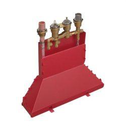 HansGrohe Alaptest 4-lyukú peremre szerelhető termosztátos kádcsaptelep DN15 / 15460180 / 15460 180