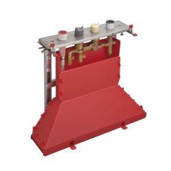 HansGrohe Alaptest 4-lyukú épített peremre szerelhető termosztátos kádcsaptelep DN15 / 15465180 / 15465 180