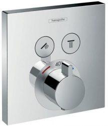 HansGrohe ShowerSelect termosztát 2 fogyasztóhoz falsík alatti szereléshez / 15763000 / 15763 000