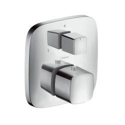 HansGrohe PuraVida Falsík alatti termosztát színkészlet / elzáró- és váltószeleppel / króm / 15771000 / 15771 000