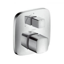 HansGrohe PuraVida Falsík alatti termosztát színkészlet elzárószeleppel / króm / 15775000 6 15775 000